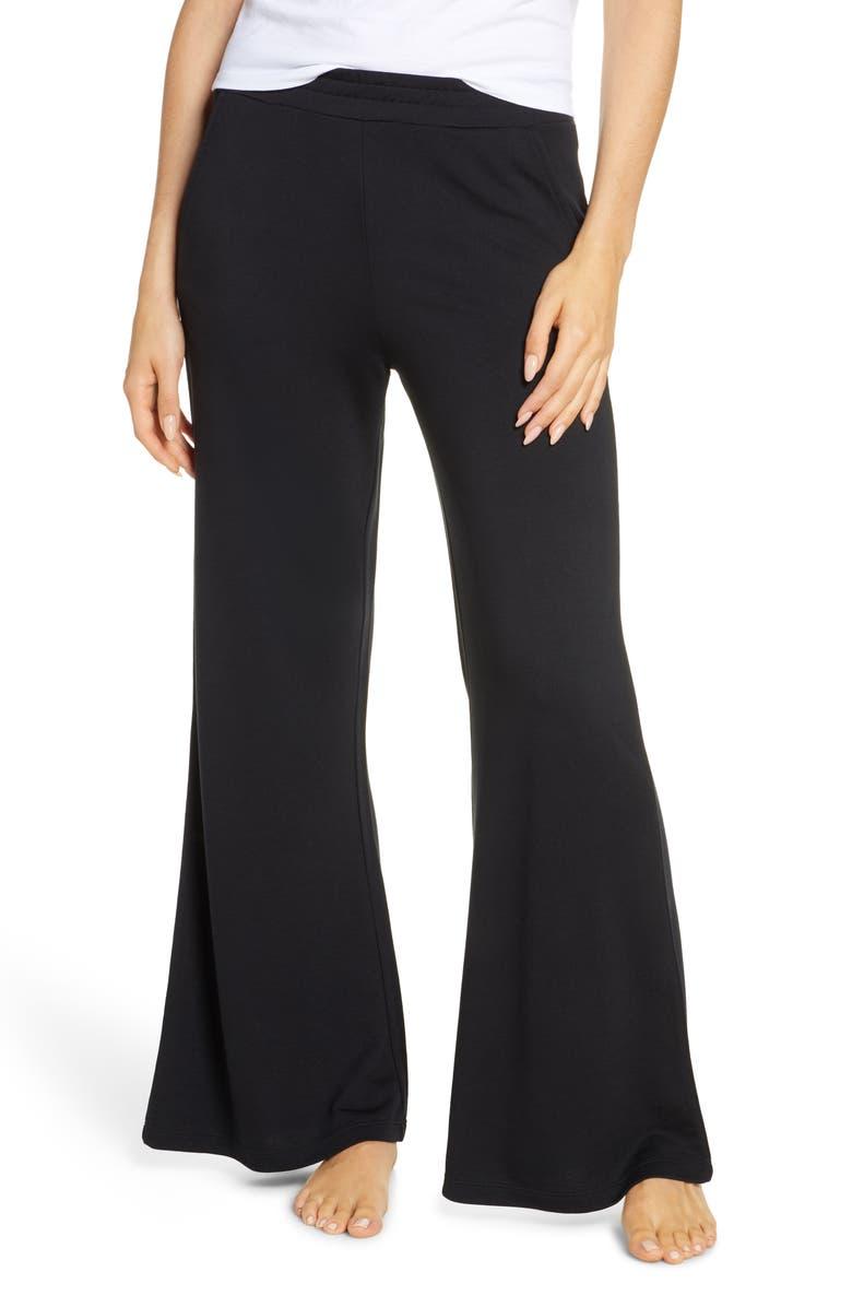 JOE'S Flare Fleece Lounge Pants, Main, color, BLACK - BLK