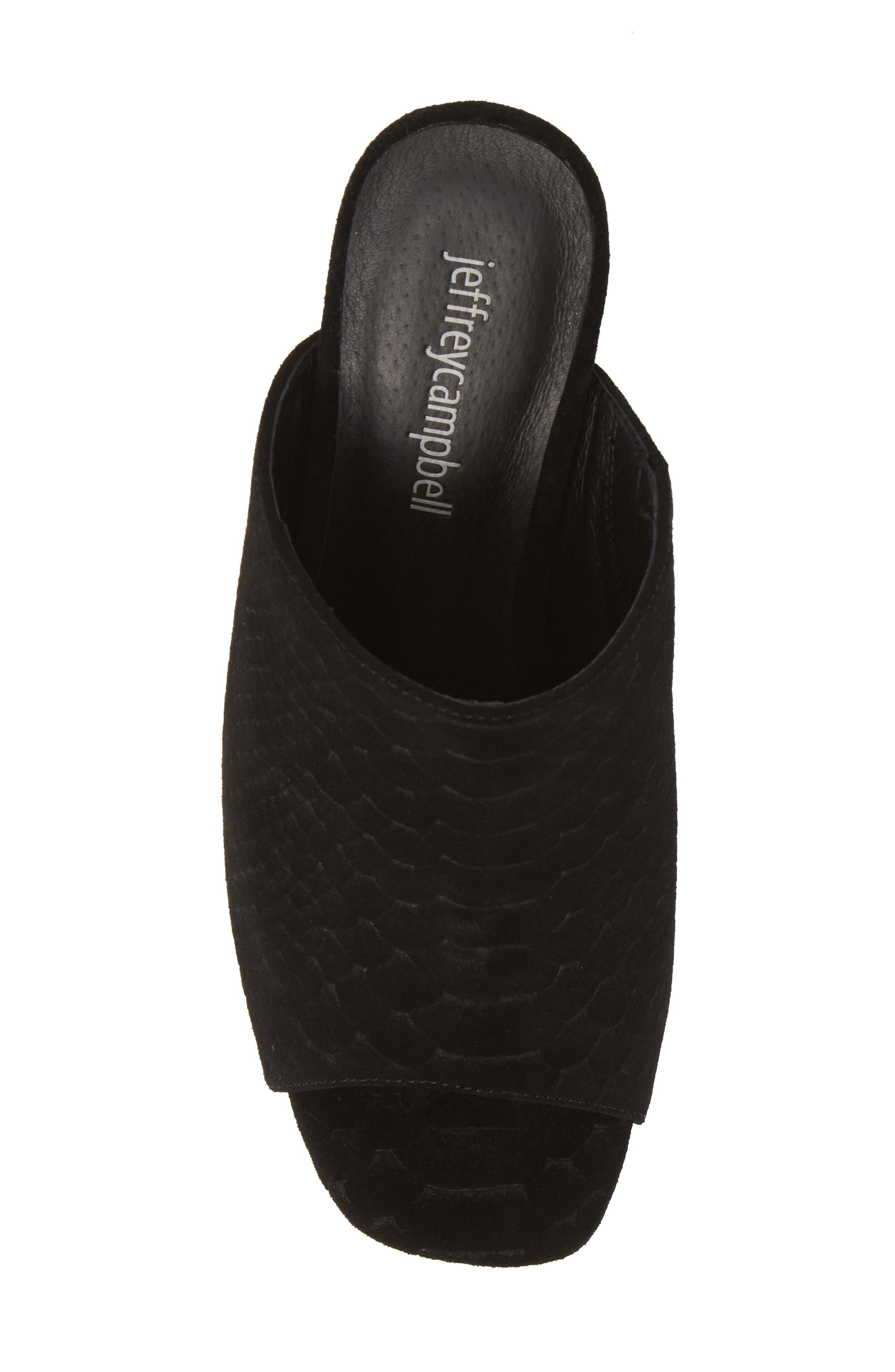 ,                             Pilar 2 Platform Slide Sandal,                             Alternate thumbnail 6, color,                             BLACK MATTE SNAKE PRINT