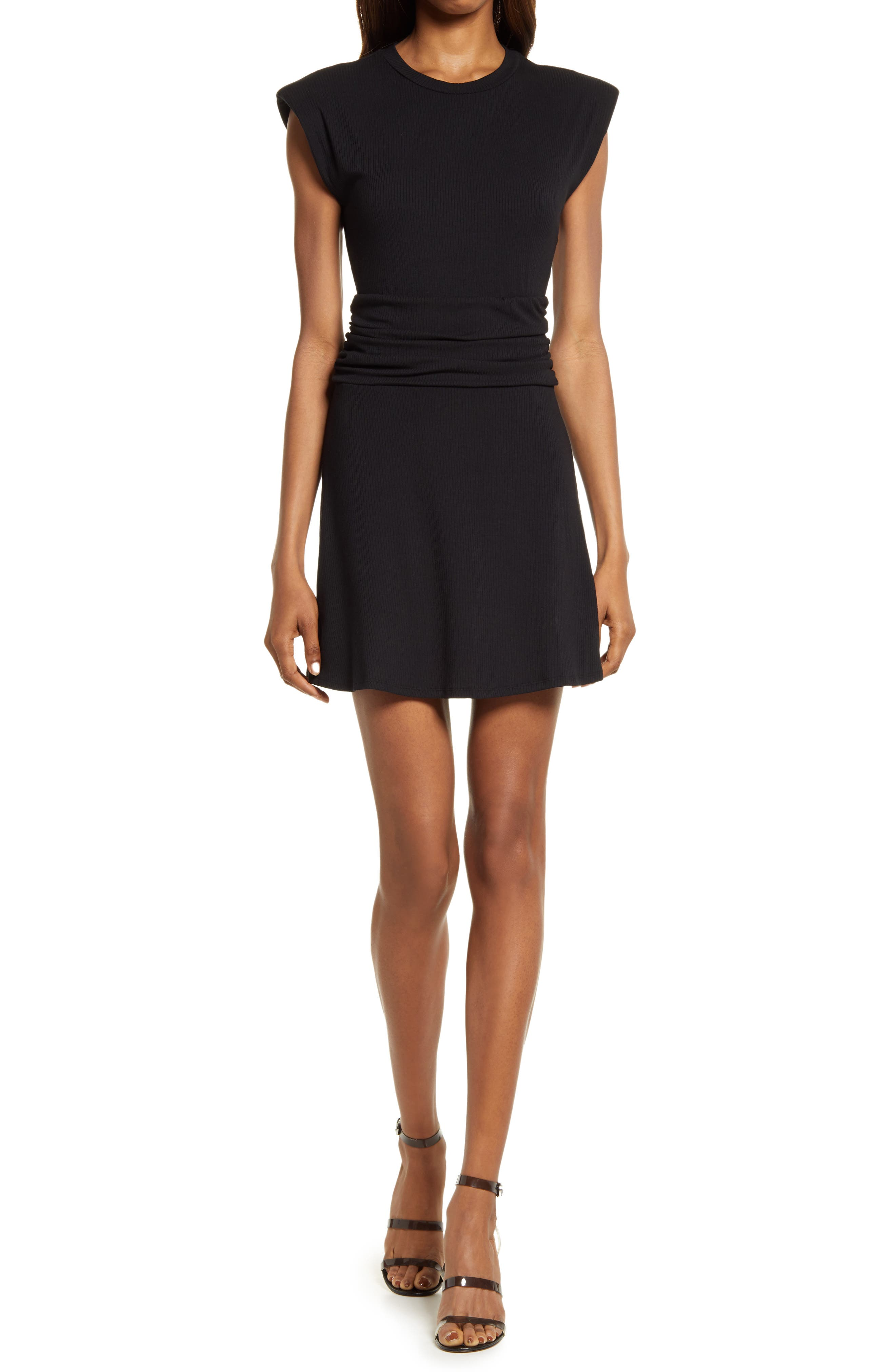 Jazlyn Ruched Ribbed Dress