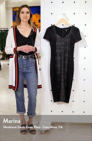 Illusion Jacquard Knit Dress, sales video thumbnail