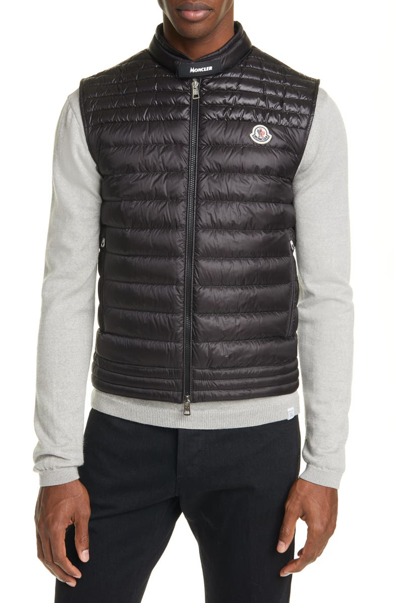 MONCLER Gir Down Puffer Vest, Main, color, BLACK