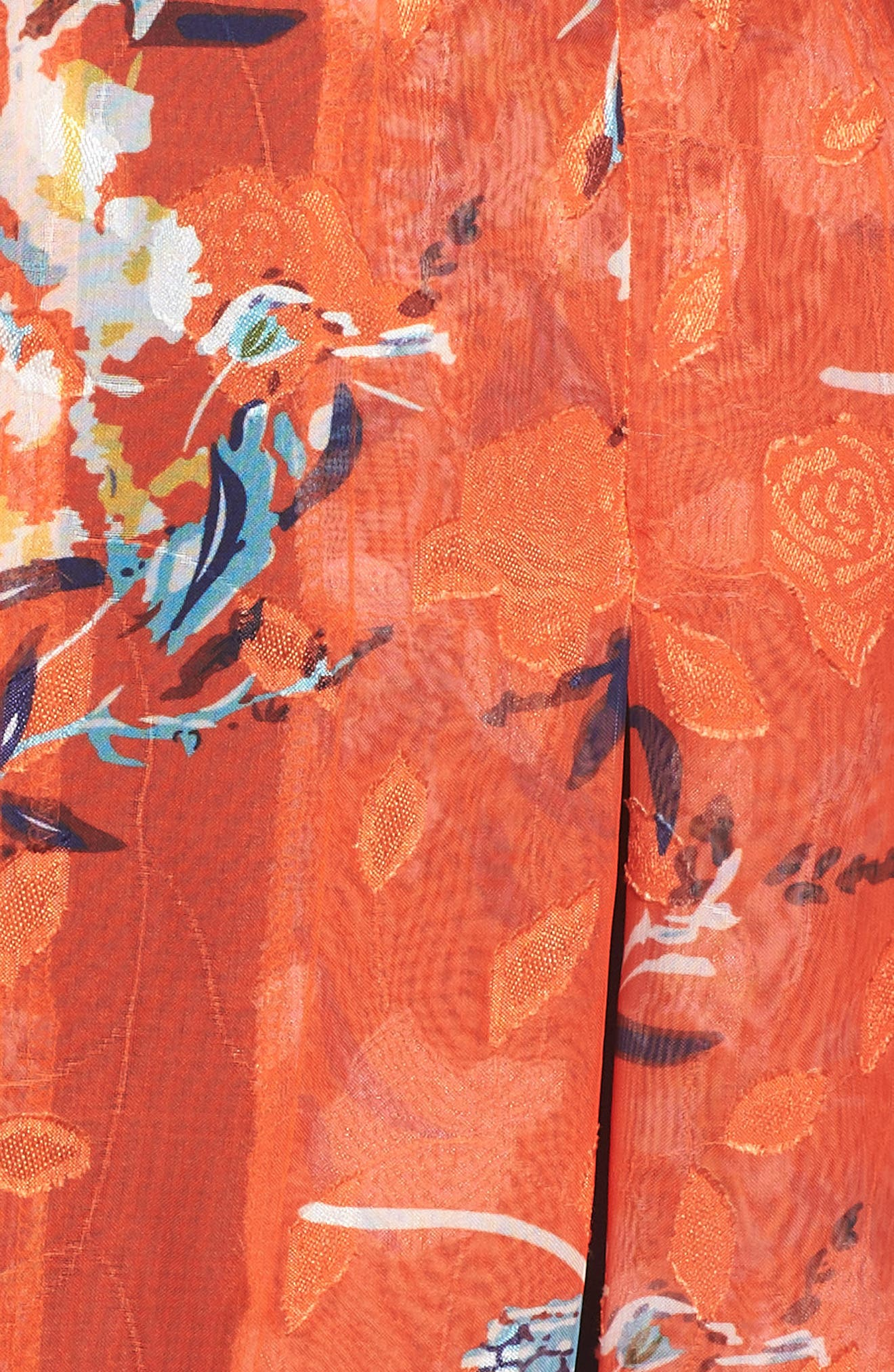 ,                             Olena Godet Flared Dress,                             Alternate thumbnail 6, color,                             ORANGE MULTI