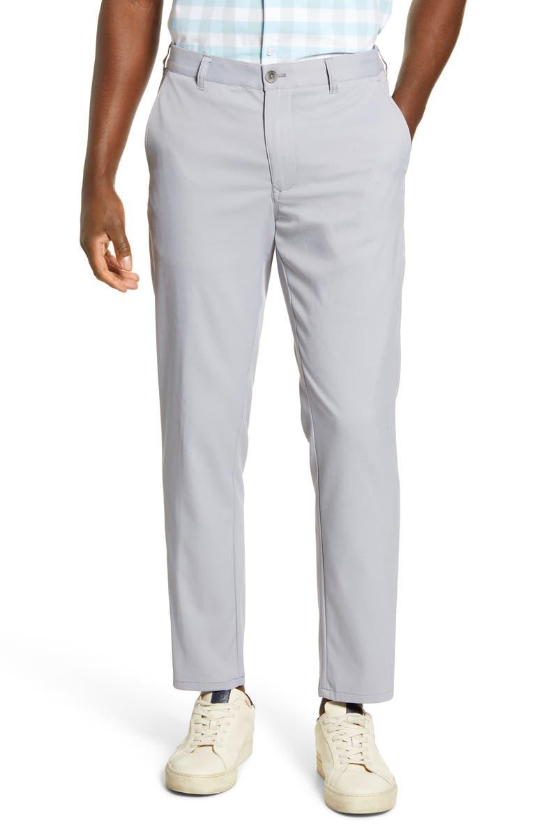 MIZZEN+MAIN Baron Trim Fit Performance Chino Pants, Main, color, ASH GREY SOLID