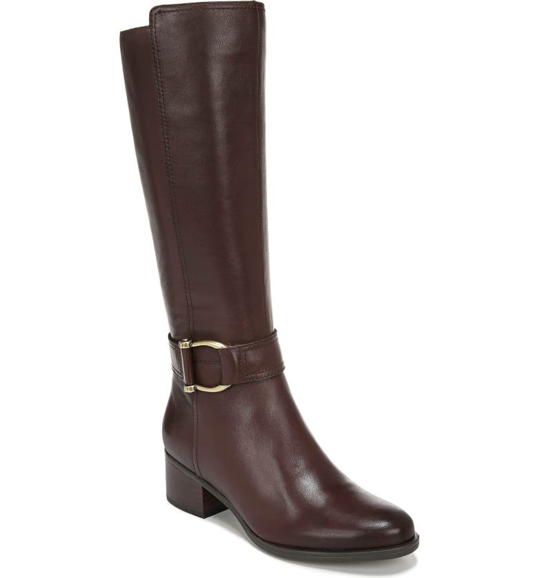 NATURALIZER Daelynn Tall Boot, Main, color, CHOCOLATE LEATHER
