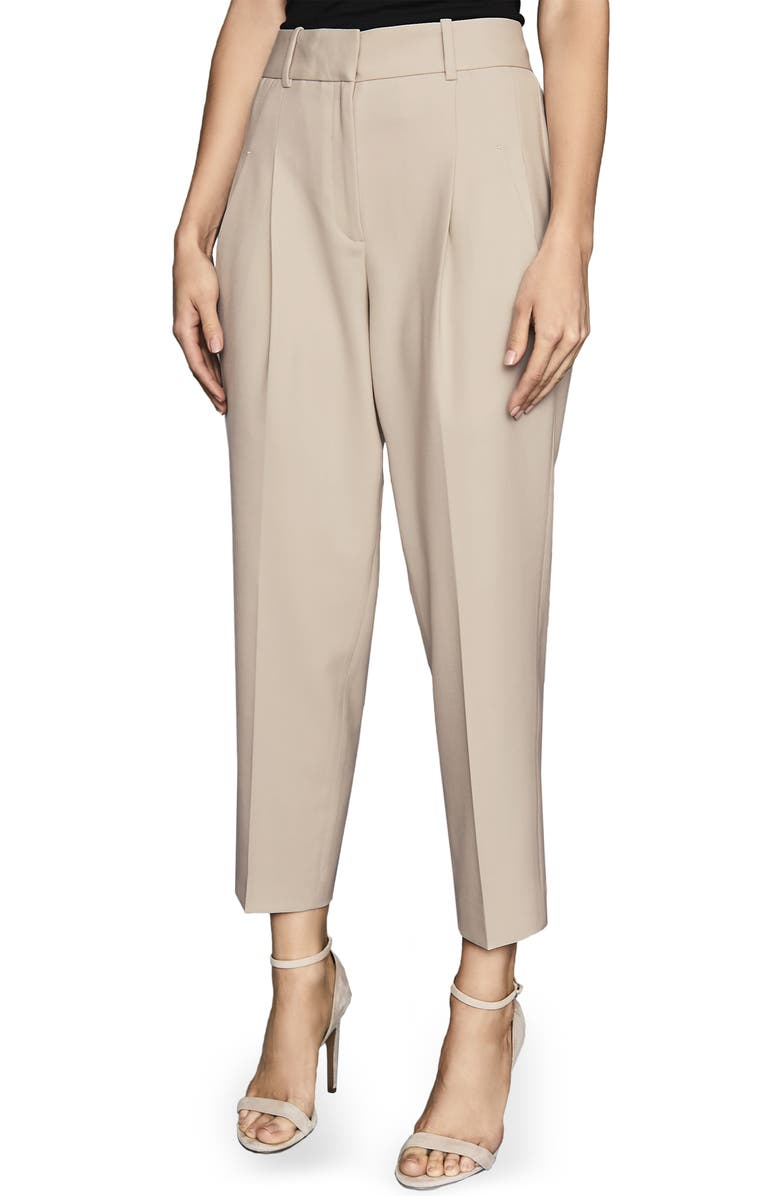 REISS Arizona Wool Blend Trousers, Main, color, NEUTRAL