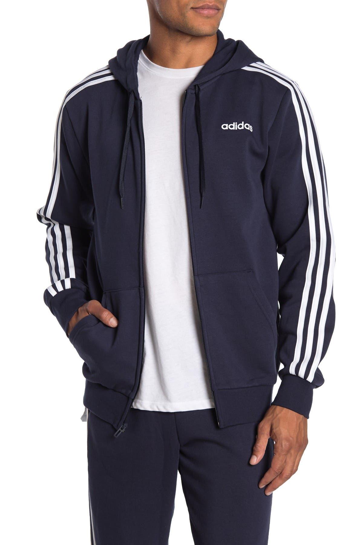 Image of adidas Essentials 3-Stripe Zip-Up Hoodie