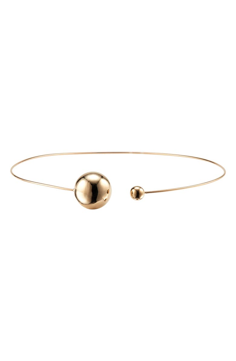 LANA JEWELRY Hollow Ball Choker Necklace, Main, color, GOLD