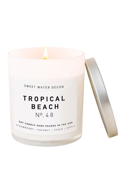 Image of SWEET WATER DECOR Tropical Beach 11 oz. Soy Jar Candle - Set of 2