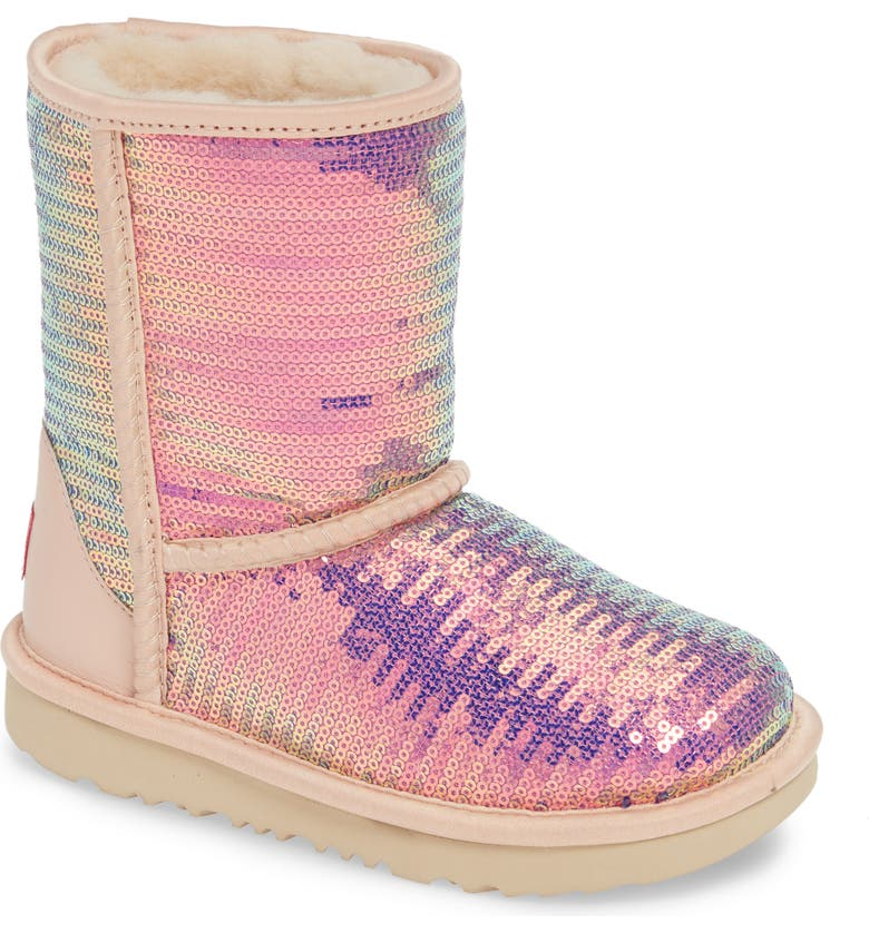 UGG Classic Short II Sequin Boot Walker Toddler Little Kid Big Kid