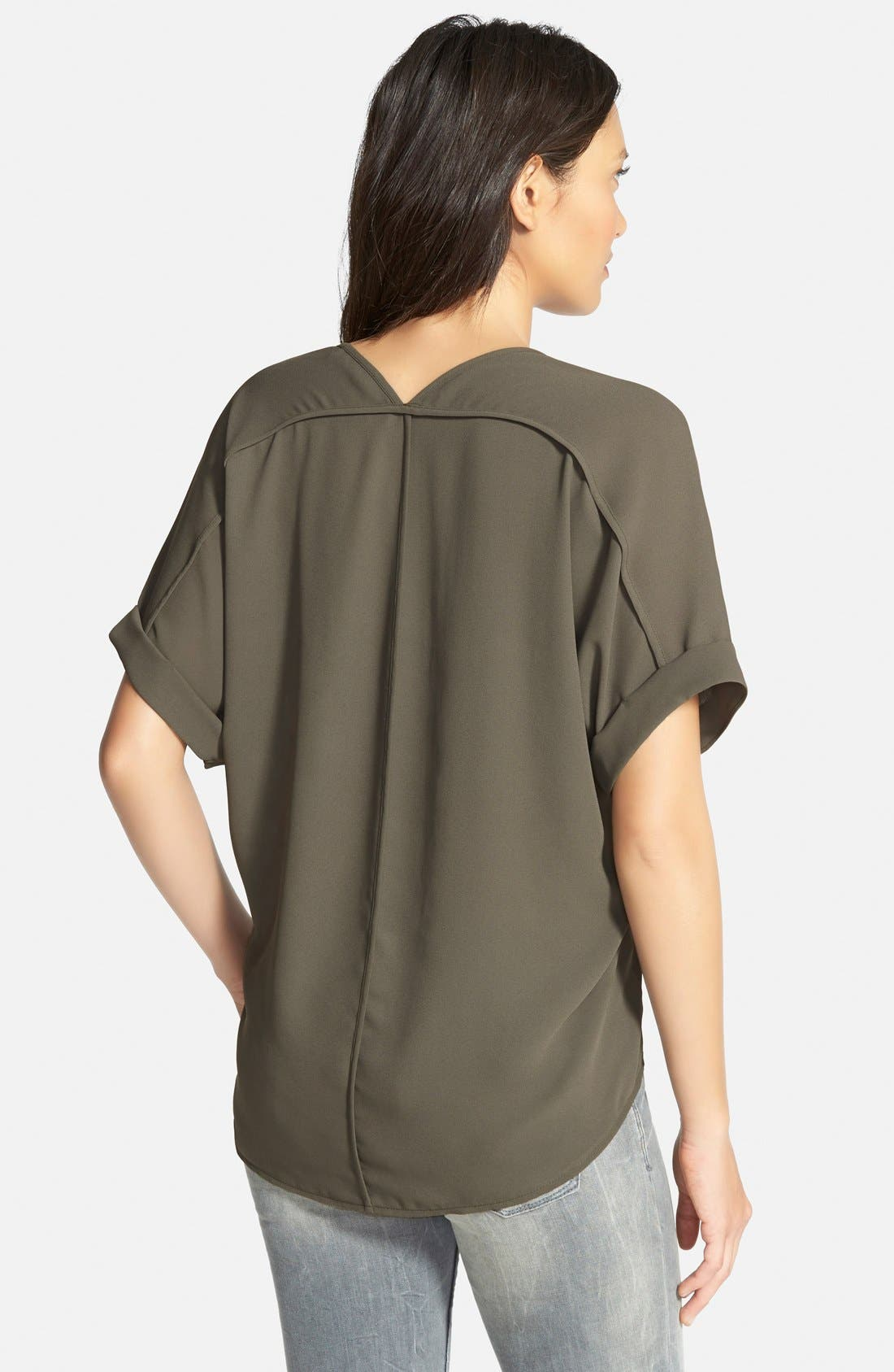 ,                             Lush Cuff Sleeve Woven Tee,                             Alternate thumbnail 54, color,                             305