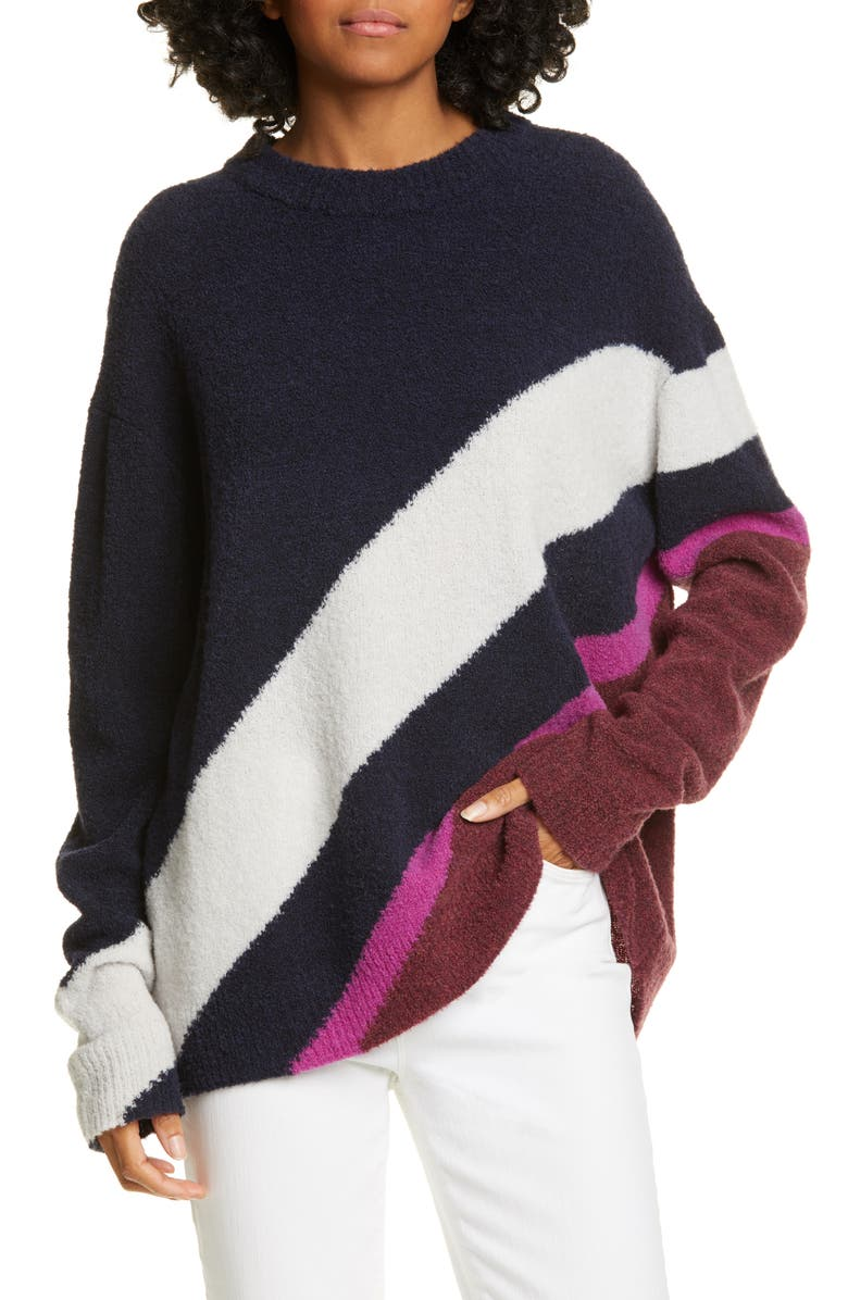 CHRISTIAN WIJNANTS Kihra Sweater, Main, color, NAVY/ BORDEAUX STRIPES