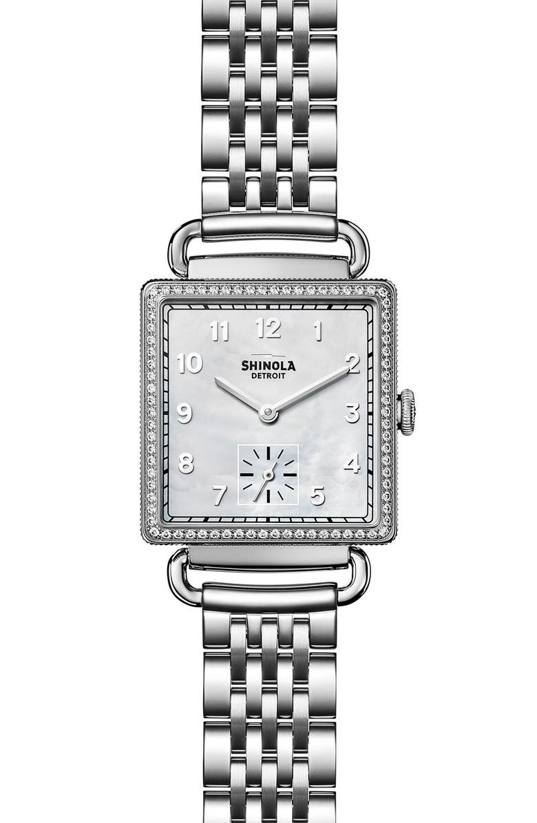 Shinola Cass Diamond Bracelet Watch 28mm