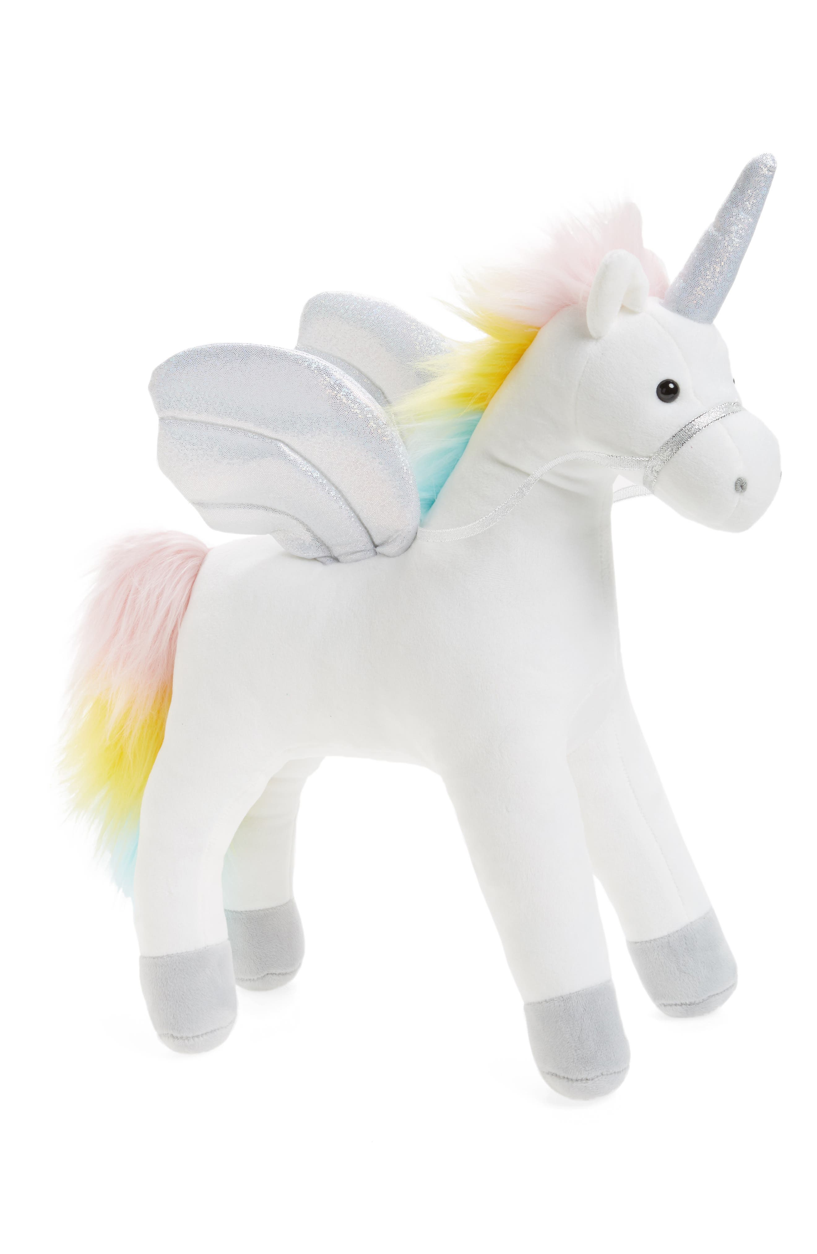 My Magical Sound & Lights Unicorn Stuffed Animal, Main, color, WHITE