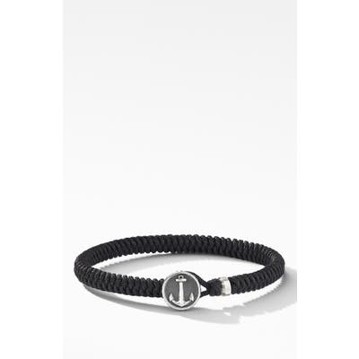 David Yurman Maritime Anchor Station Black Nylon Bracelet