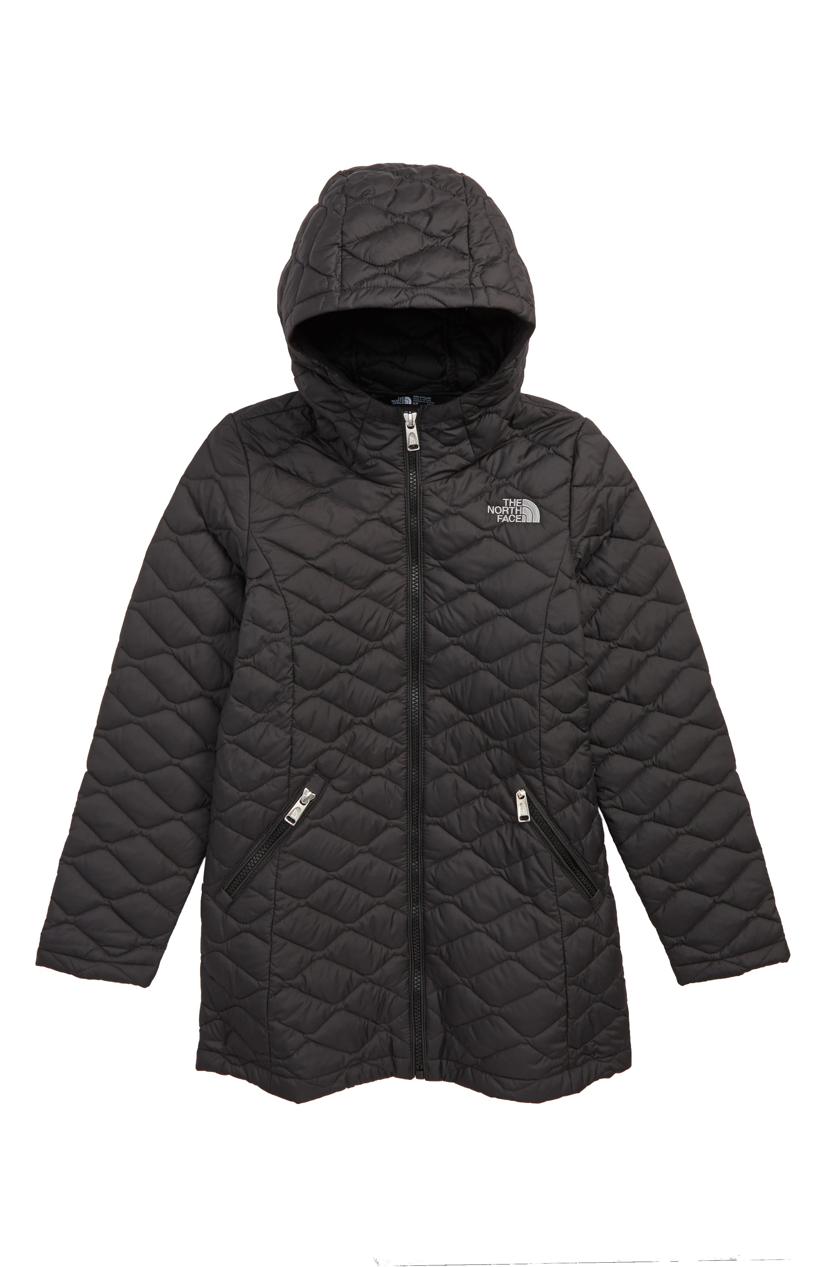 Girls The North Face Thermoball(TM) Primaloft Quilted Parka Size L (1416)  Black