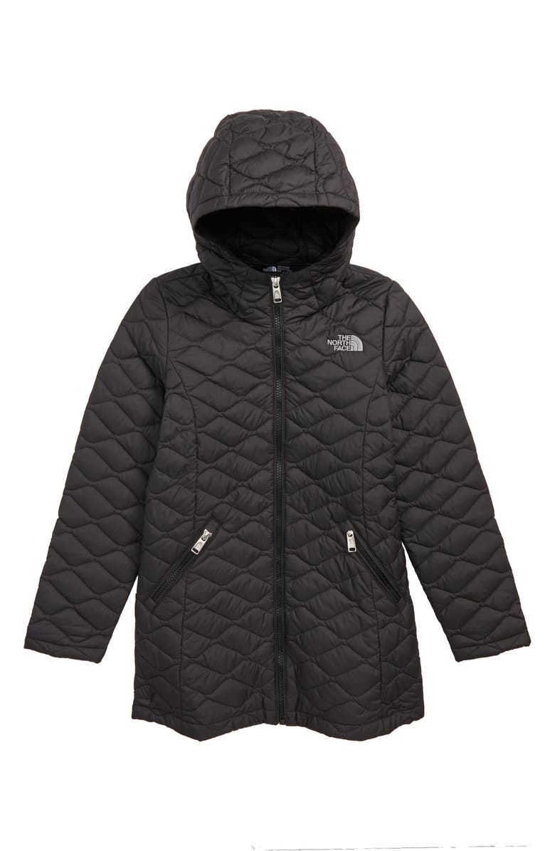 THE NORTH FACE ThermoBall<sup>™</sup> PrimaLoft<sup>®</sup> Quilted Parka, Main, color, TNF BLACK