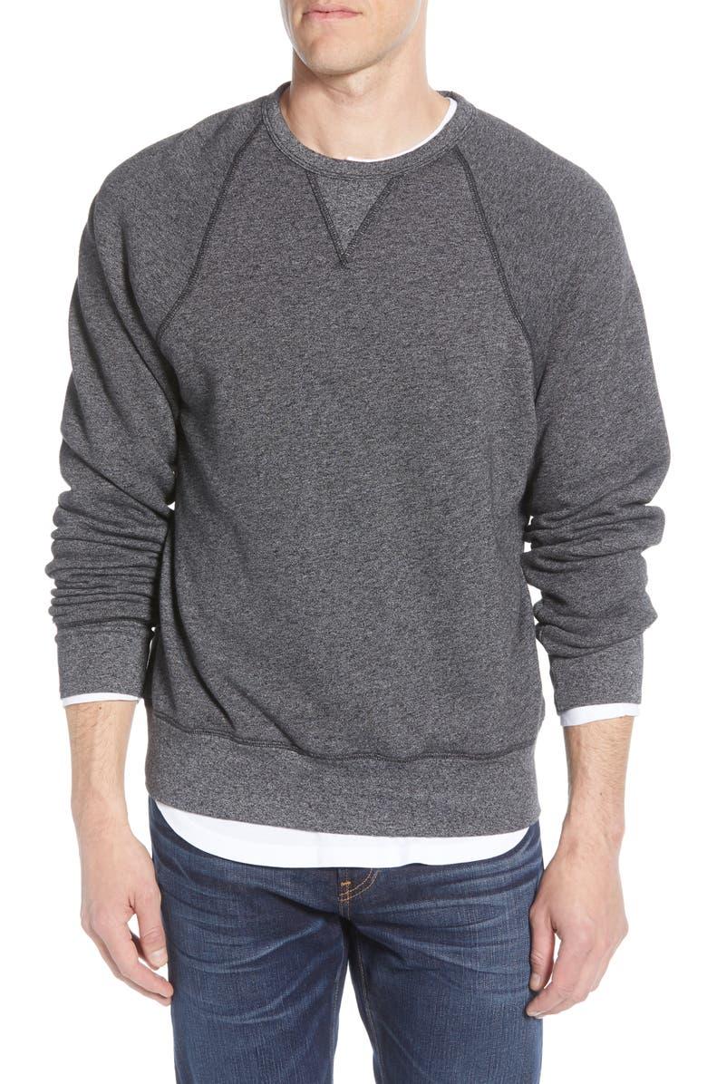 MADEWELL Crewneck Sweatshirt, Main, color, DARK CHARCOAL