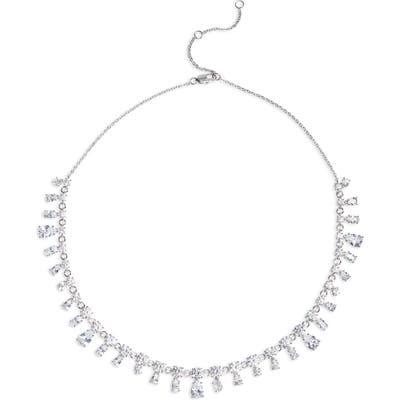 Nordstrom Fancy Cut Cubic Zirconia Collar Necklace