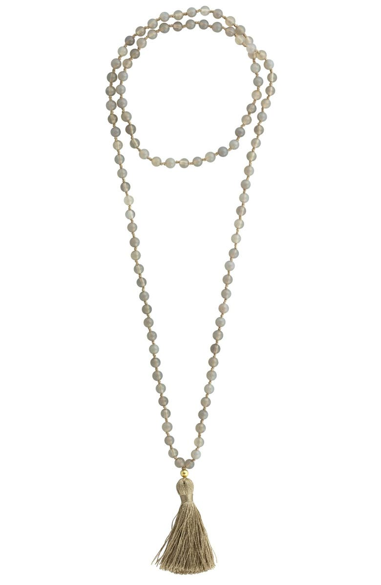 BARONI Beaded Necklace, Main, color, 050