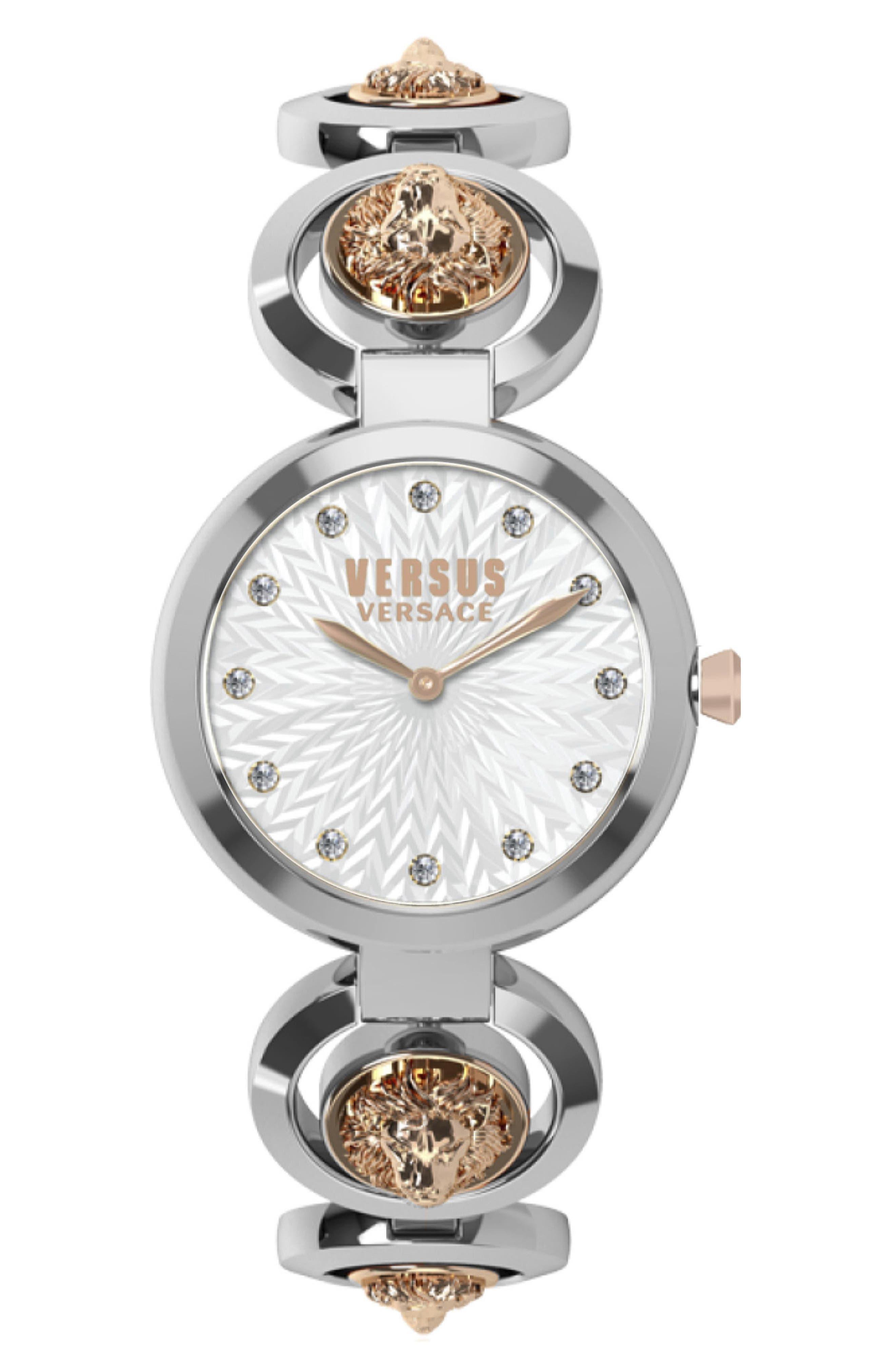 ,                             Peking Road Bracelet Watch, 34mm,                             Main thumbnail 1, color,                             SILVER/ ROSE GOLD