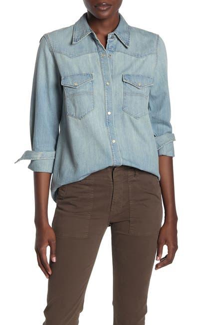 Image of NILI LOTAN Owen Western Denim Shirt