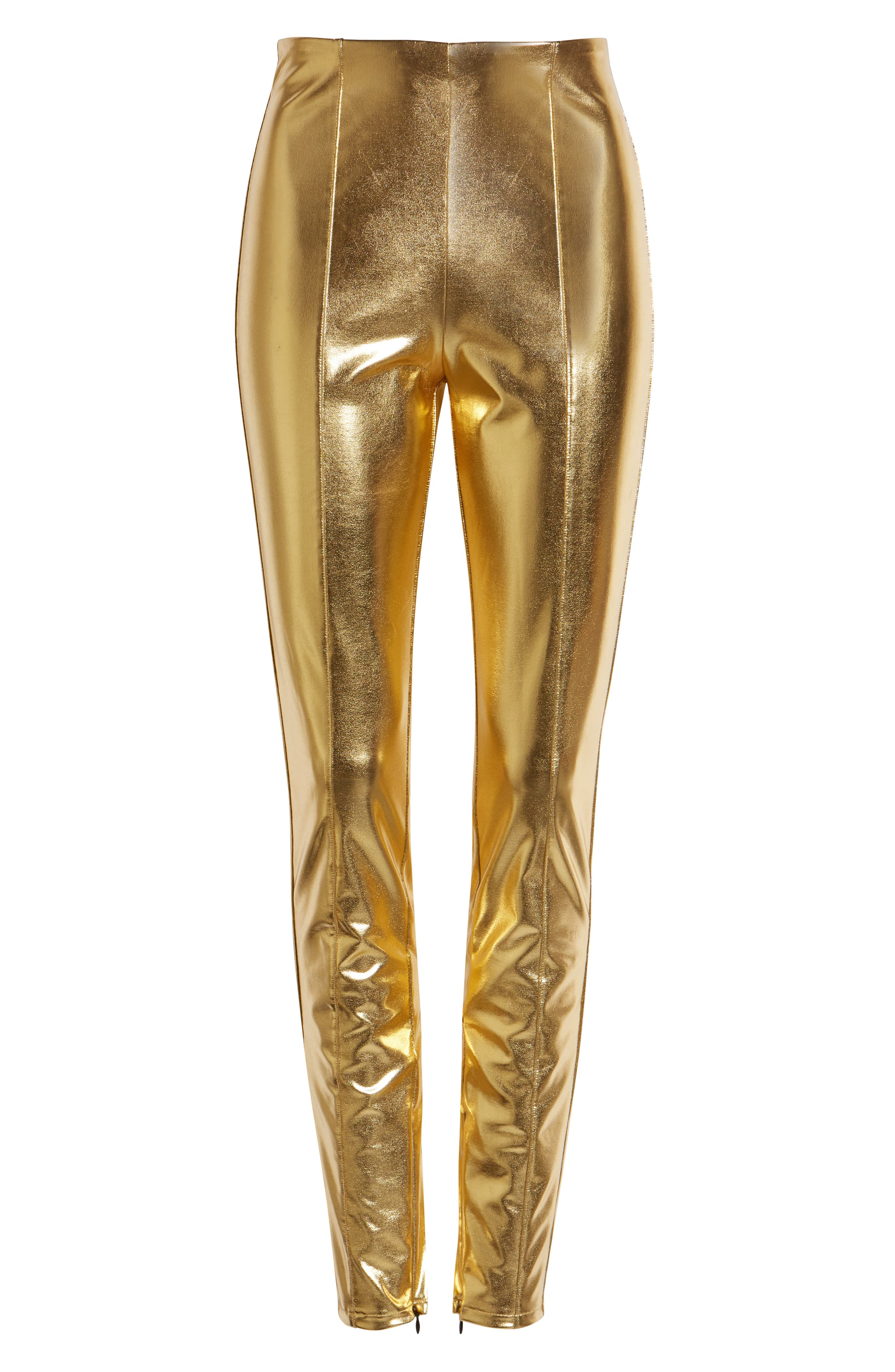 60s Pants, Jeans, Hippie, Flares, Jumpsuits Open Edit Shine Leggings Size Small in Gold at Nordstrom $49.00 AT vintagedancer.com