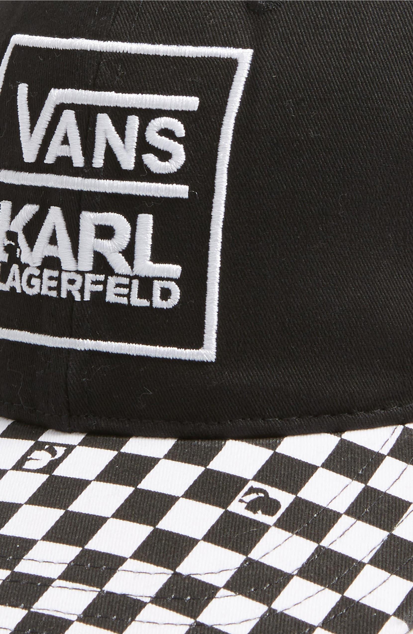 4741d1180a52cc Vans x KARL LAGERFELD Dugout Baseball Cap | Nordstrom
