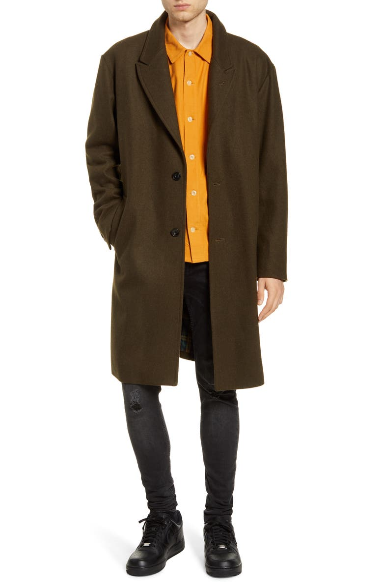 SATURDAYS NYC Kawano Top Coat, Main, color, MILITARY OLIVE