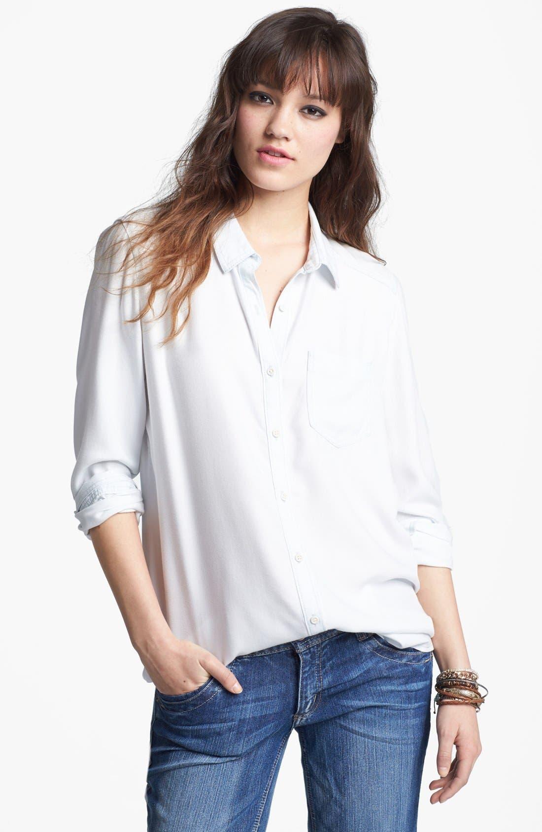 ,                             Rubbish Oversized Menswear Shirt,                             Main thumbnail 7, color,                             450