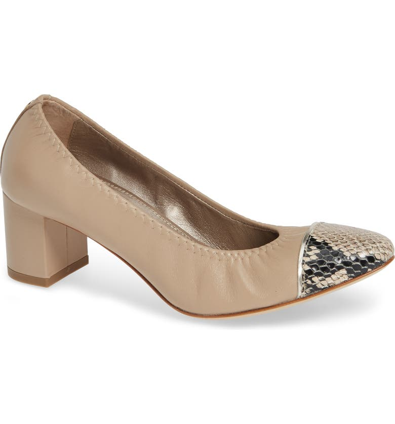 AGL Cap Toe Pump, Main, color, SAND LEATHER