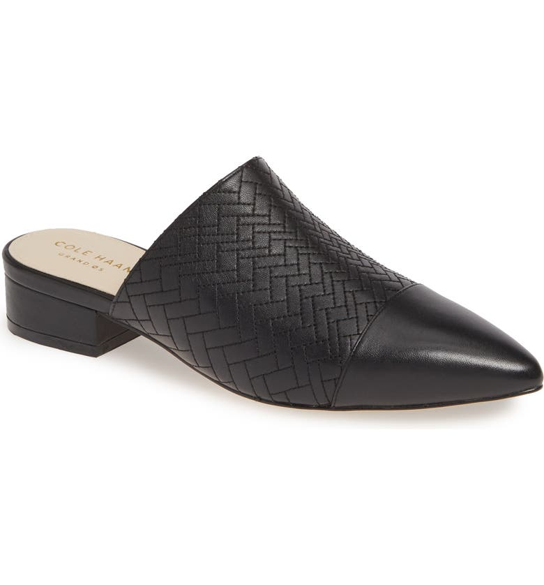 COLE HAAN Palma Mule, Main, color, BLACK LEATHER