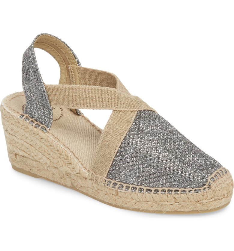 TONI PONS 'Triton' Espadrille Wedge, Main, color, GREY FABRIC