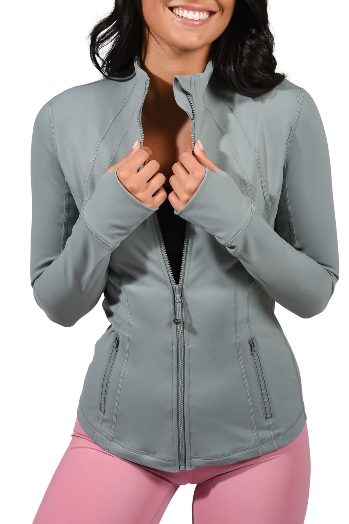 Image of 90 Degree By Reflex Full Zip Long Sleeve Jacket