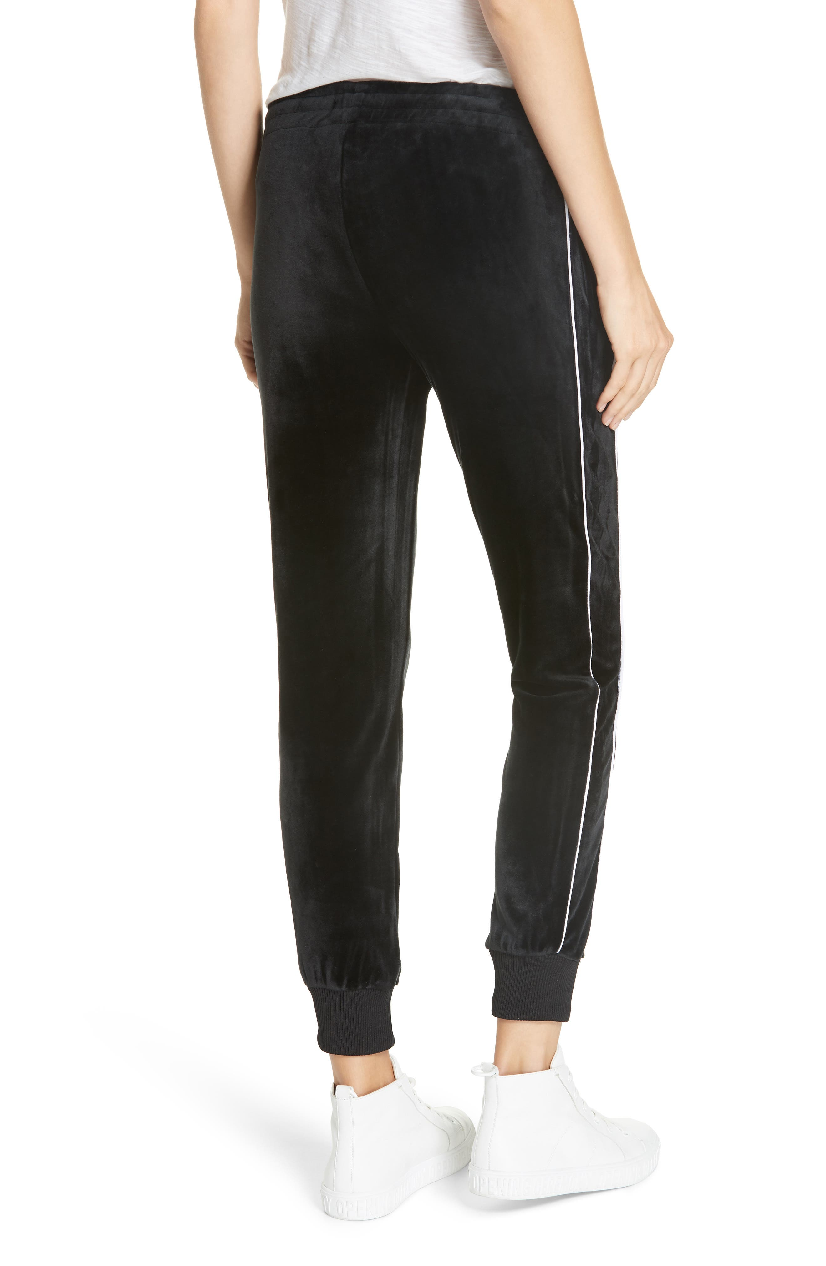 ,                             Velour Leggings,                             Alternate thumbnail 2, color,                             BLACK