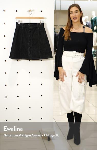 Kety Snap Front Denim Skirt, sales video thumbnail