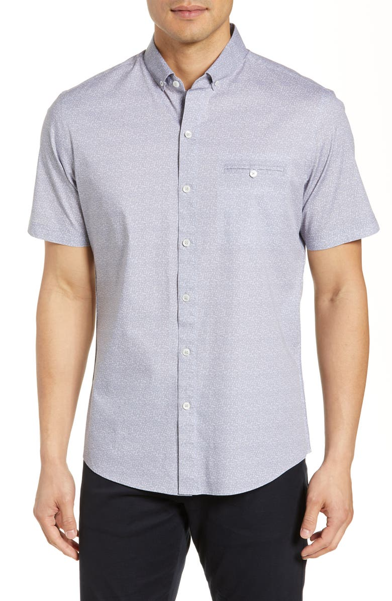 ZACHARY PRELL Parenty Regular Fit Shirt, Main, color, LIGHT GREY