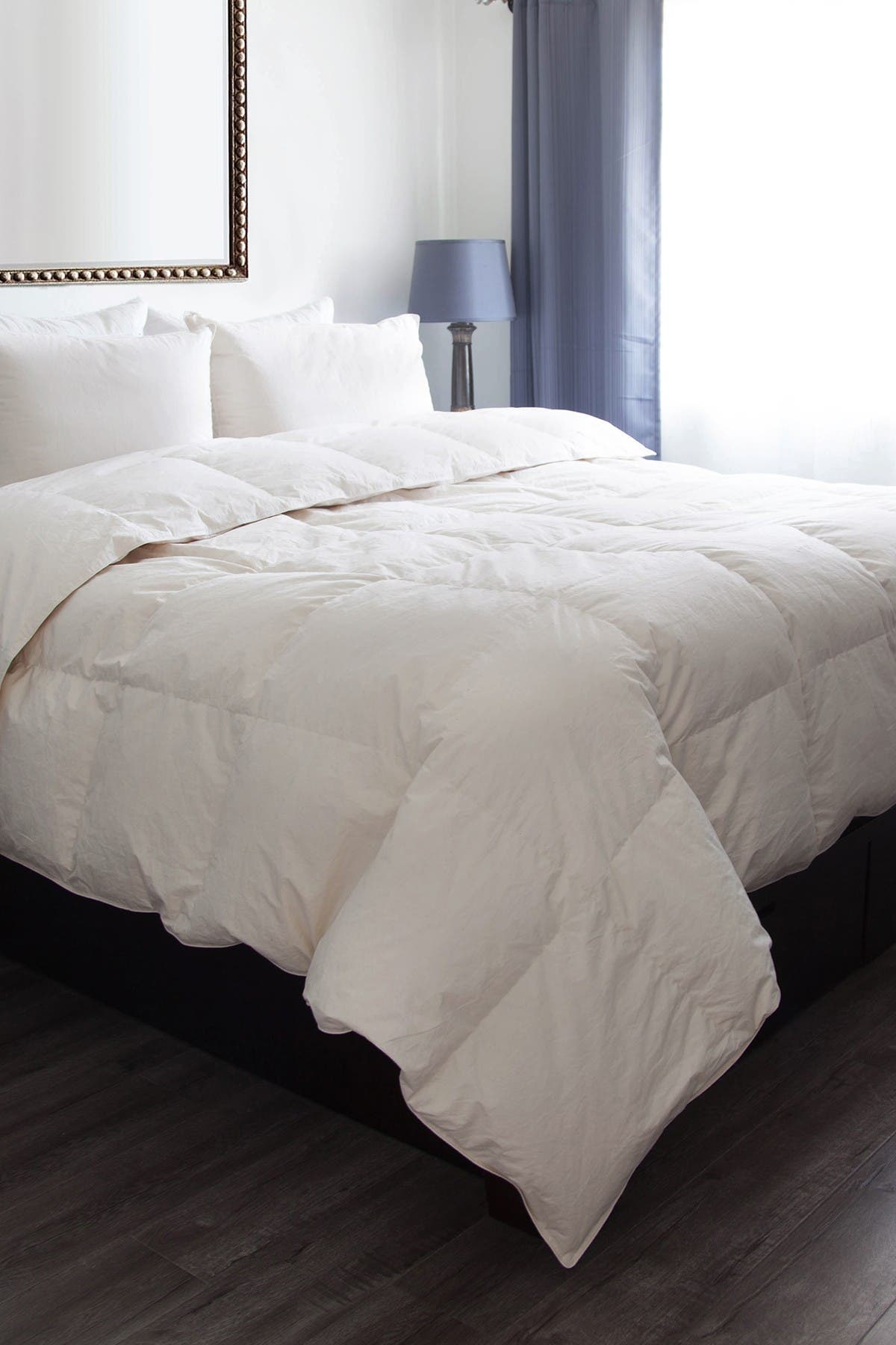 Image of CLIMAREST Weatherproof Vintage Home King All Natural Organic Cotton Down Alternative Comforter
