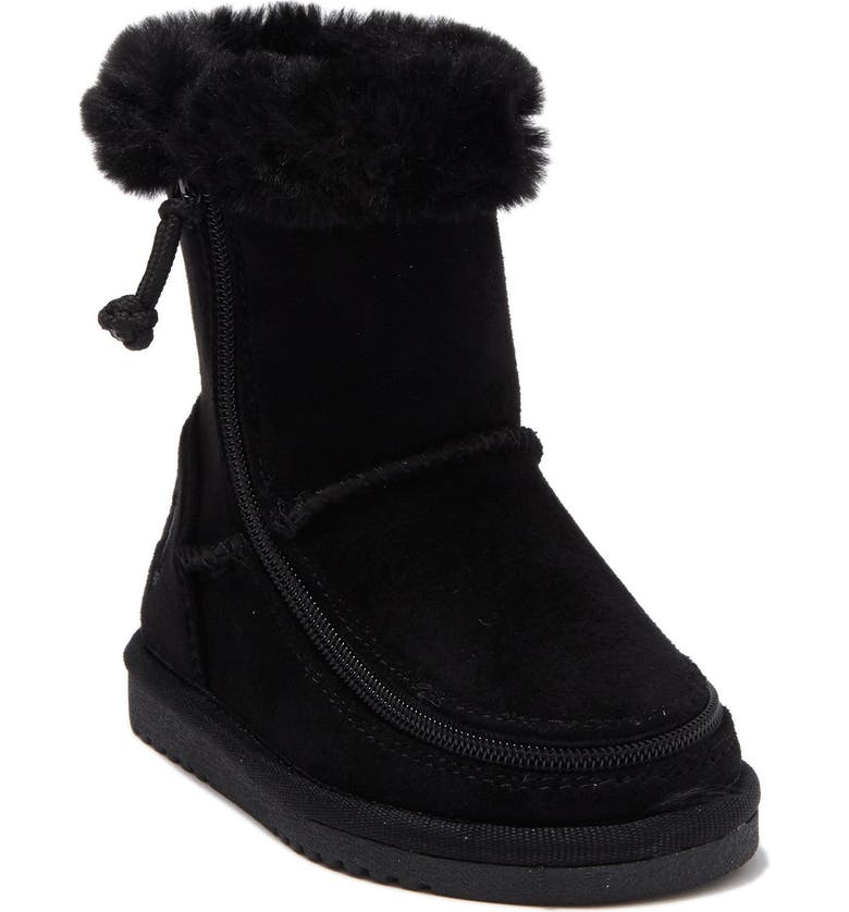 BILLY FOOTWEAR Cozy Faux Shearling Lined Boot, Main, color, BLACK