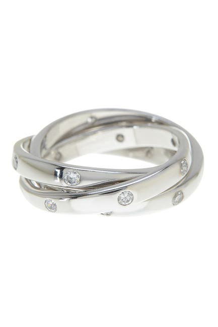 Image of Sterling Forever Sterling Silver Triple Roll Etoile Ring