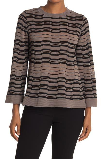Image of M Missoni Striped Kimono Sleeve Sweater