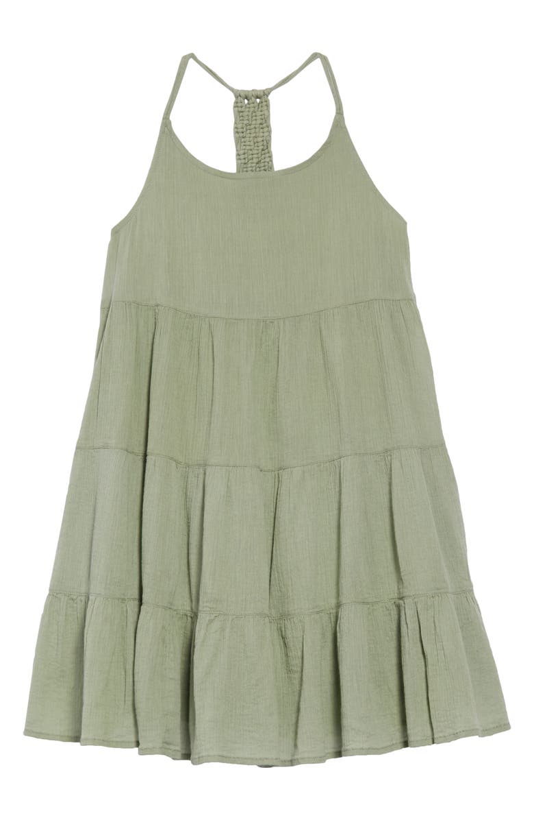 TUCKER + TATE Macrame Tiered Dress, Main, color, 310