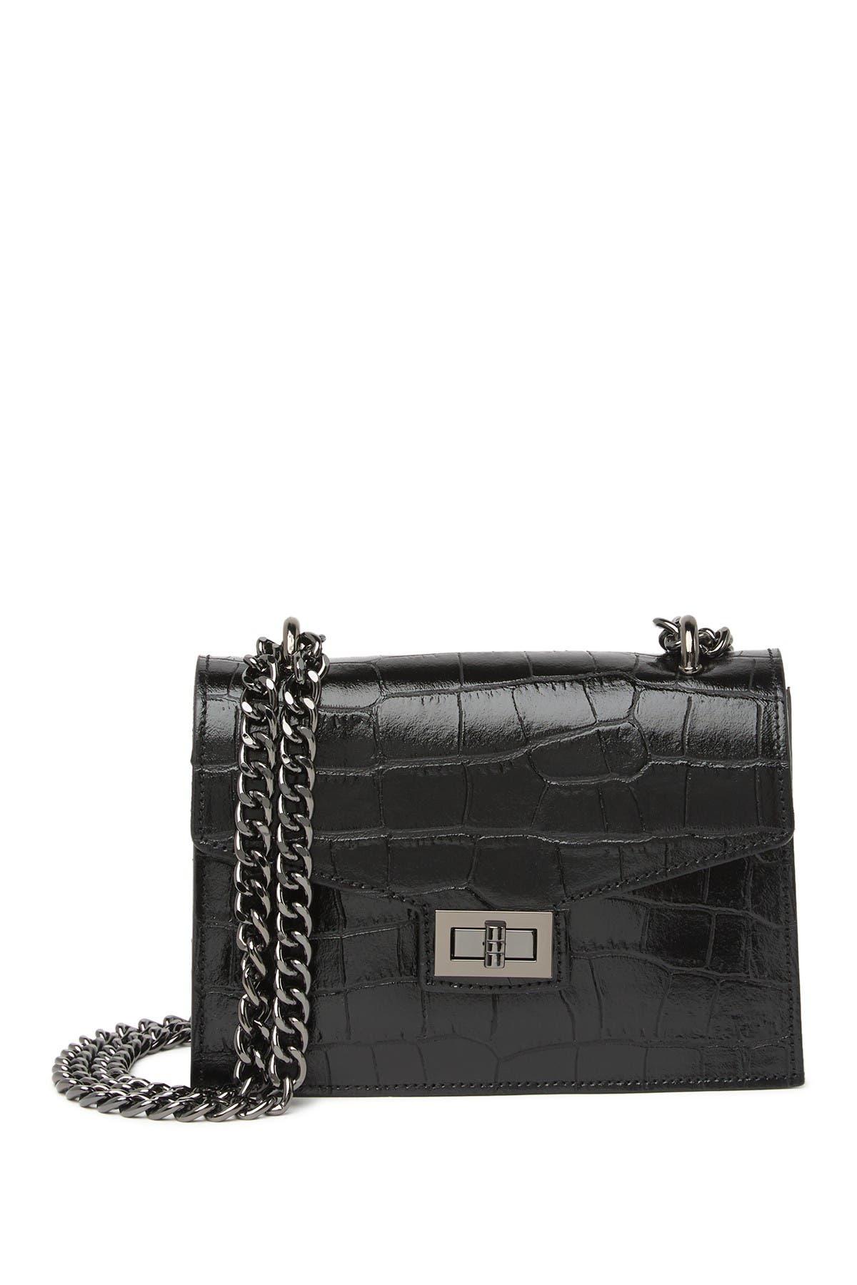 Image of Persaman New York Mathilde Embossed Leather Chain Strap Shoulder Bag