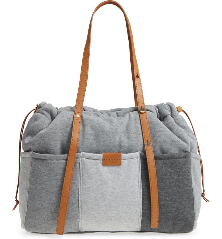 CHLOÉ Jersey Diaper Bag, Main, color, 020