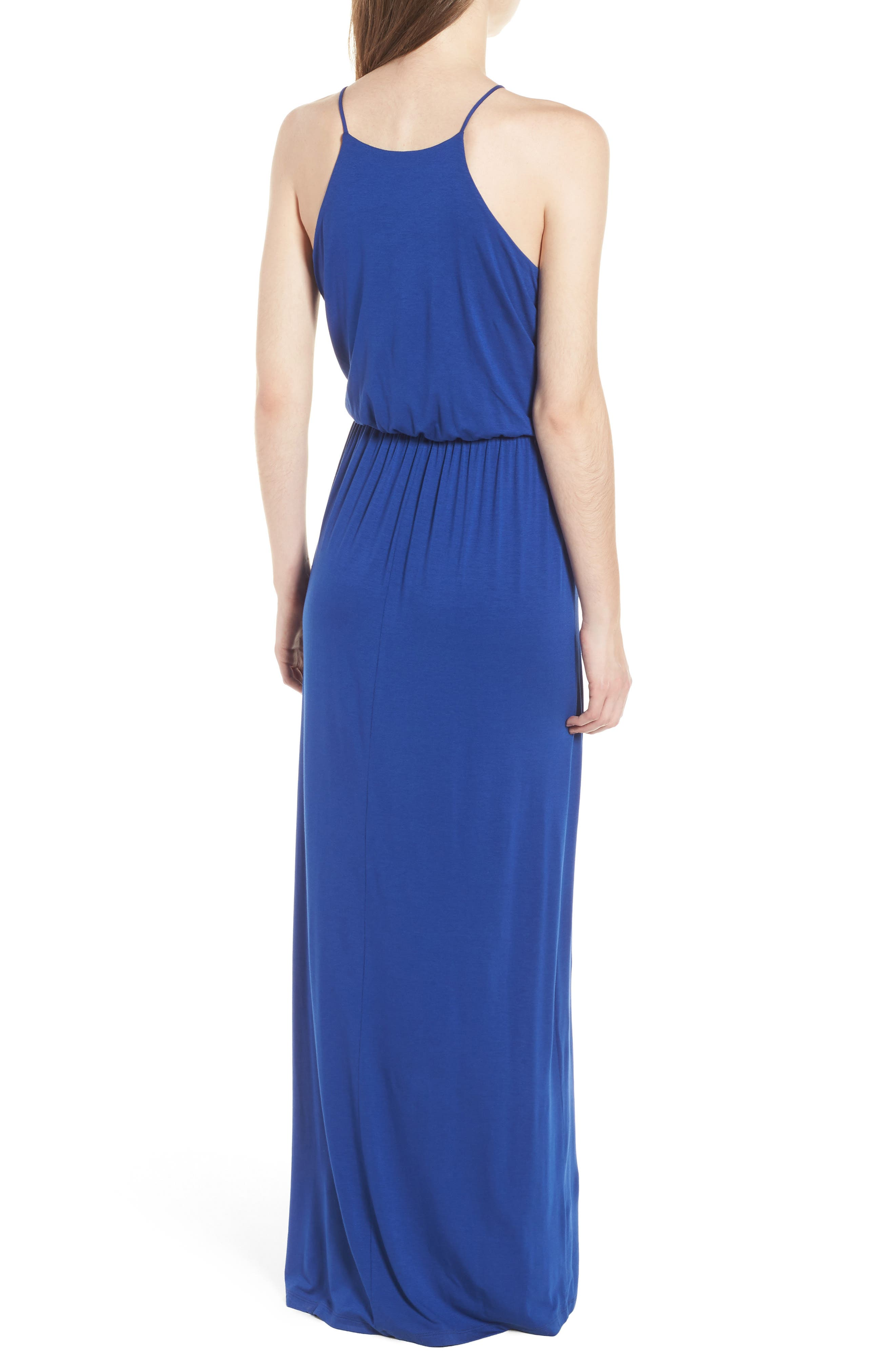 ,                             High Neck Maxi Dress,                             Alternate thumbnail 2, color,                             408