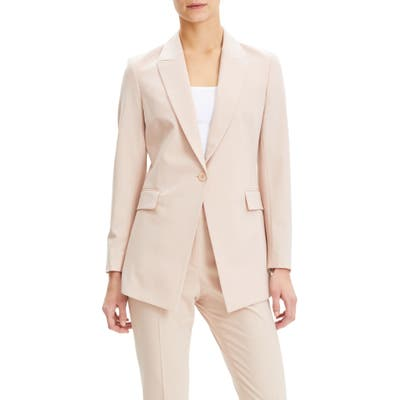 Theory Etiennette B Good Wool Suit Jacket, Pink