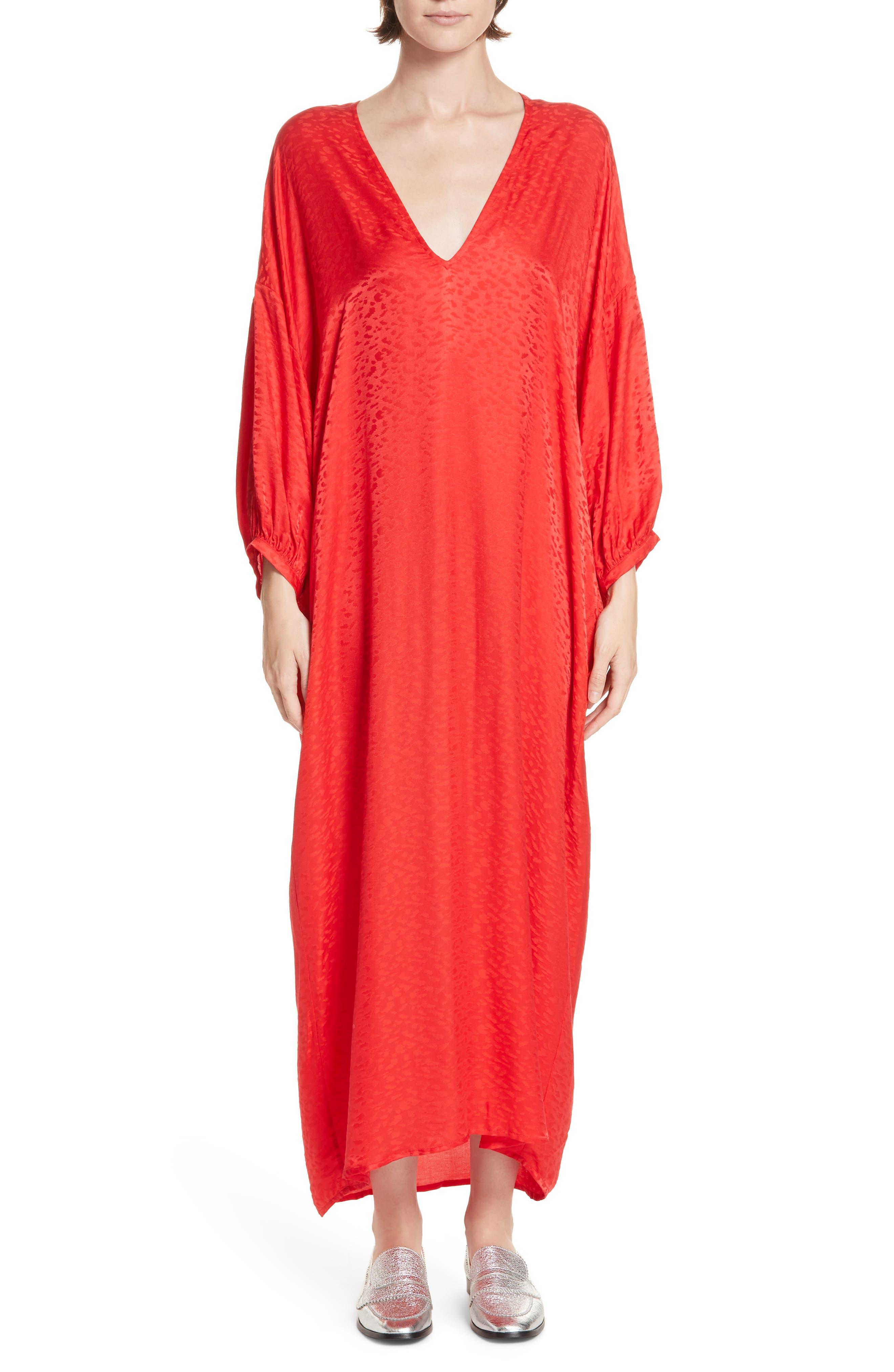 Roseanna Season Jacquard Maxi Dress, 4 FR - Red