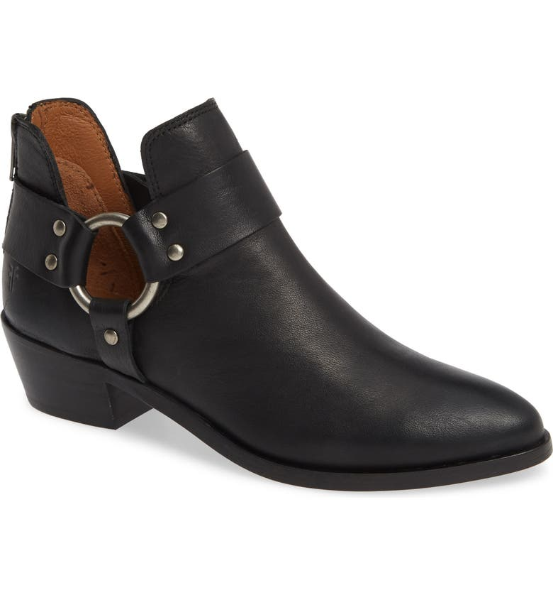 FRYE Ray Low Harness Bootie, Main, color, BLACK