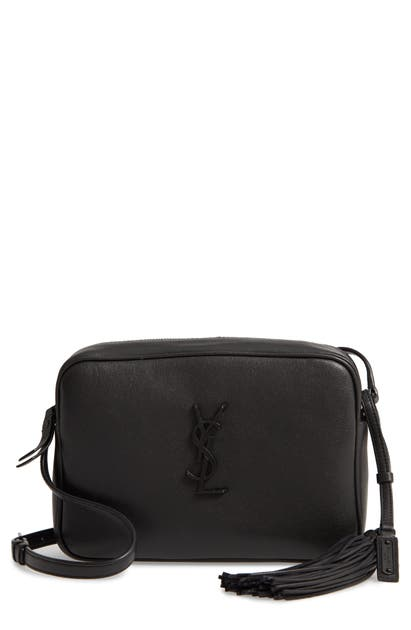 Saint Laurent Lou Calfskin Leather Camera Bag - Black In Noir