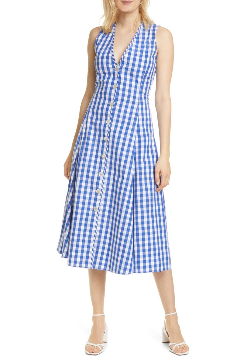 POLO RALPH LAUREN Gingham A-Line Dress, Main, color, 400