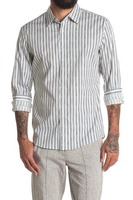 Image of Michael Kors Broken Stripe Slim Fit Sport Shirt